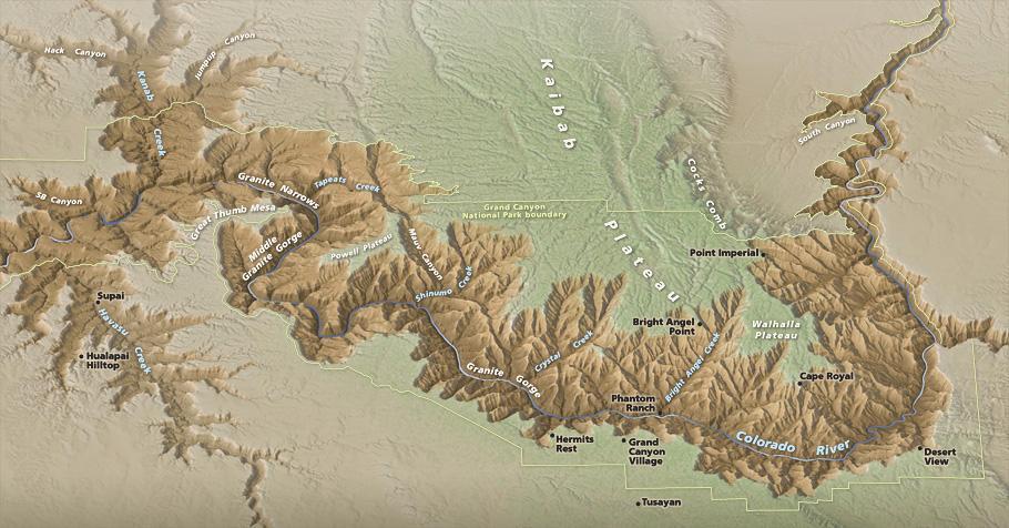 3d Map Of Arizona.3d Terrain Maps Natural Color